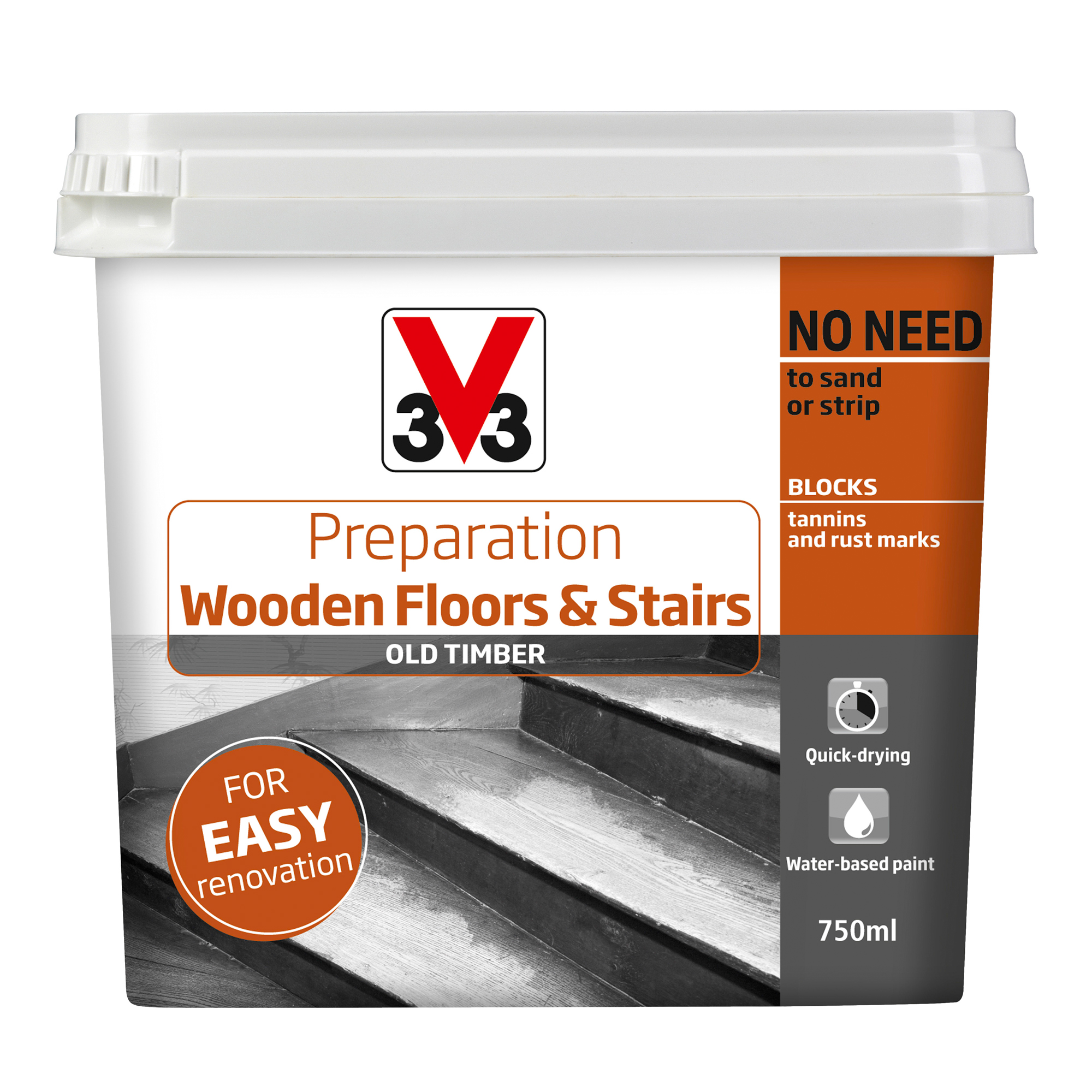 v33 preparation wooden floors stairs