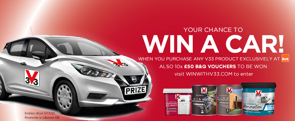 your chance to win a car with V33
